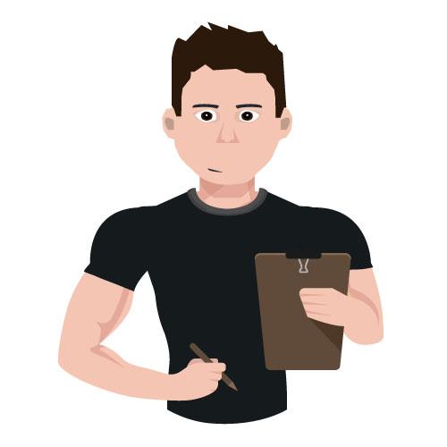 Entraineur coach supertrainers avec programme d'entraînement