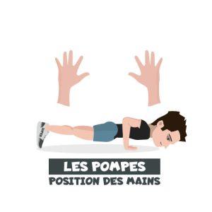Pompes position des mains icone